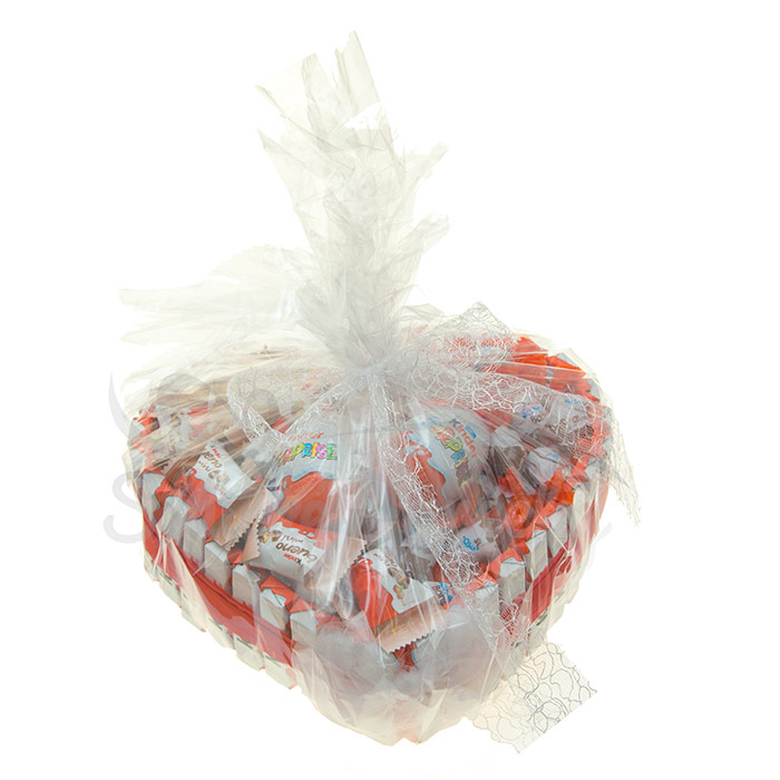 8ace38503 Kinder Srdiečko sladká torta - Originálny darček pre deti aj dospelých